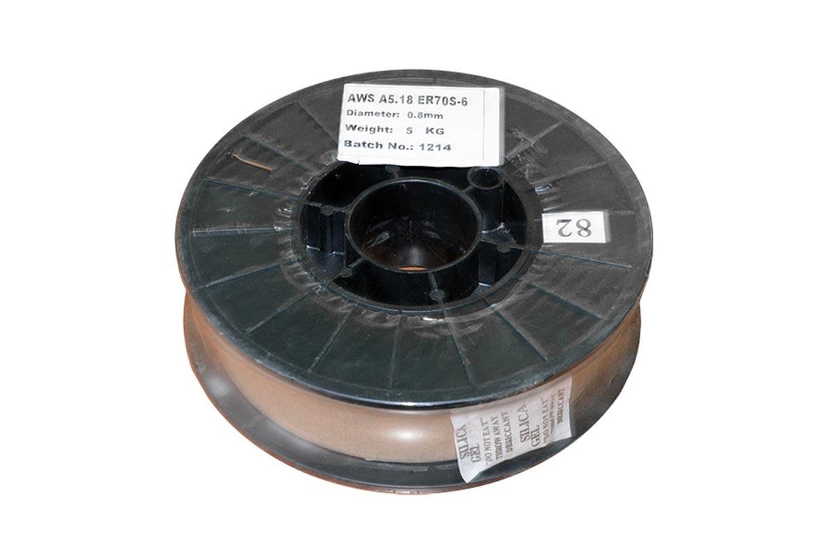 Проволока сварочная ER70S-6 омеднённая 0,8 мм/5 кг