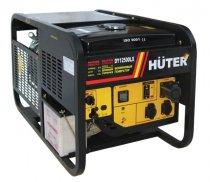 Бензогенератор HUTER DY12500LX с колёсами и АКБ