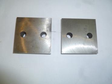 Нож для резчика арматуры ТСС GQ-40N (к-т из 2-х деталей,2отверстия М14, 83х83х26мм)