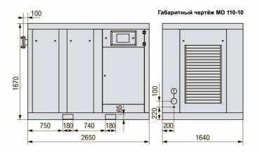 MD 132-08 Винтовой компрессор с прямым приводом