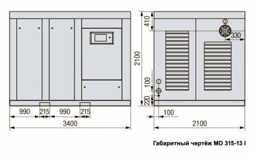 MD 315-10 Винтовой компрессор с прямым приводом