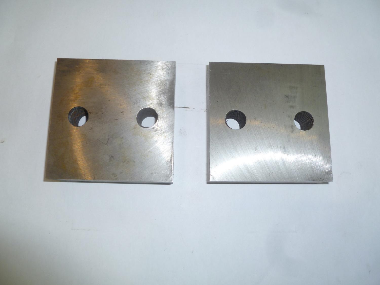 Нож для резчика арматуры ТСС GQ-50N (90х90х26 мм,2 М16) (комплект из 2-х деталей)