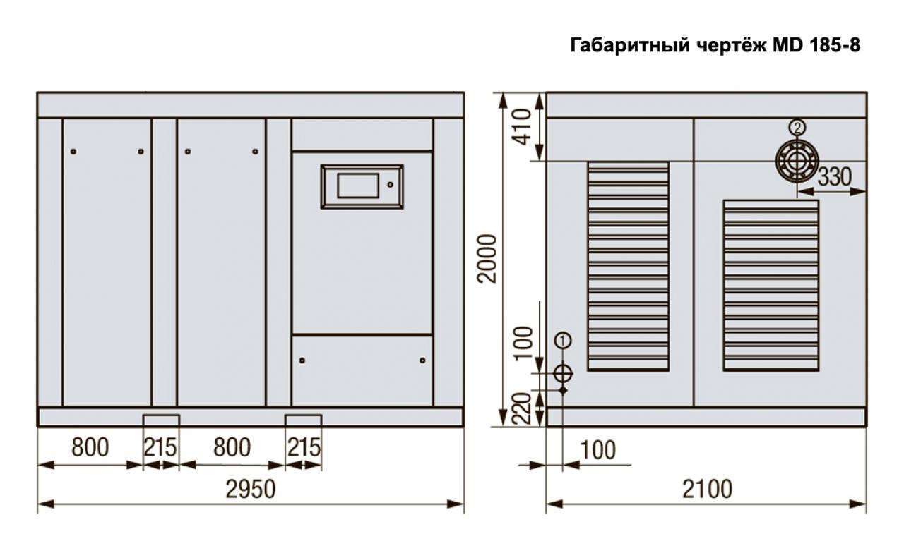 MD 250-13 Винтовой компрессор с прямым приводом