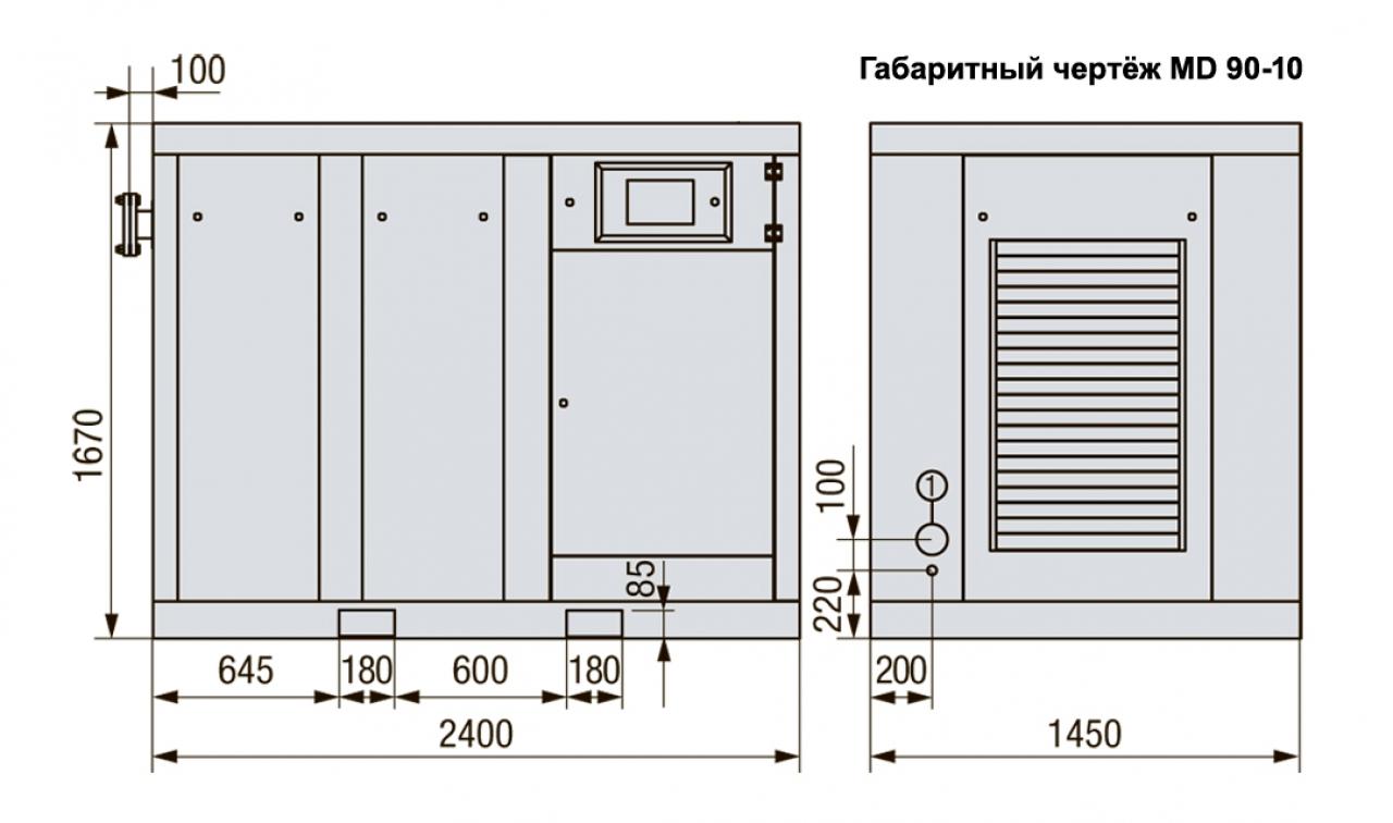 MD 90-08 Винтовой компрессор с прямым приводом