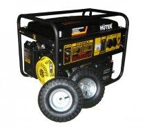 Бензогенератор HUTER DY6500LX с колёсами и аккумулятором