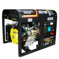 Бензогенератор HUTER DY6500LX с колёсами (с функцией сварки)