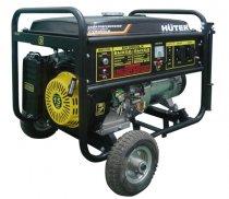Бензогенератор HUTER DY8000LX с колёсами